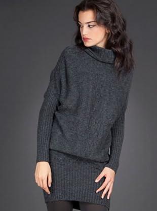Naf Naf Vestido (gris)