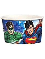 8 Justice League Dc Comics Superhero Birthday Party 9.5oz Paper Treat Cups