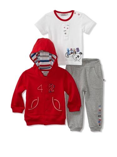 KANZ Baby 3-Piece Knit Set (Red)