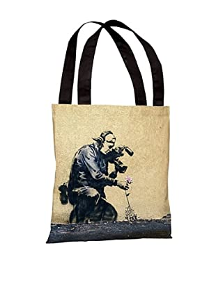 Banksy Flower Tote Bag