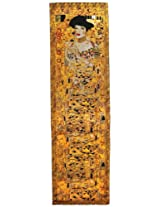 Swhiteme Luxurious 100% Silk Charmeuse Long Scarf (Gustav Klimt's Portrait of Adele Bloch-Bauer)