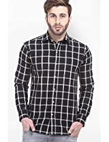 Checks Black Casual Shirt Fash-A-Holic