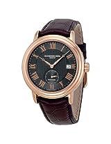Raymond Weil Maestro Automatic Grey Dial Brown Leather Men's Watch - Rw-2838-Pc5-00209