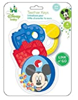 Disney Mickey Mouse Teether Keys with Rattle and Link