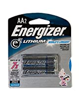 ENERGIZER AA Lithium Batteries 2-Pack