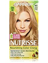 Garnier Nutrisse Haircolor, 80 Medium Natural Blonde Butternut