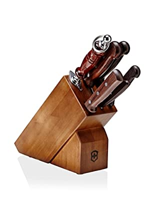 Victorinox 7-Piece Knife Block Set with Rosewood Handles