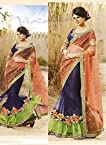 Talreja Sarees Designer Lehenga Saree - Blue & Orange
