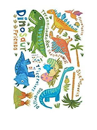 Ambiance Live Wandtattoo Small Colorful Dinosaurs