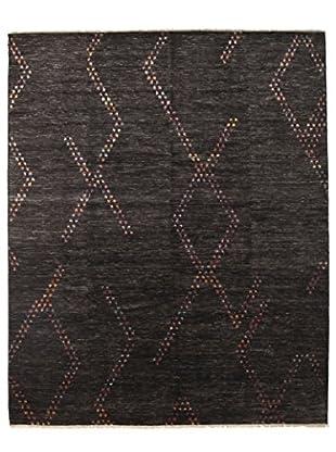 Darya Rugs Ikat Oriental Rug, Black, 8' 2