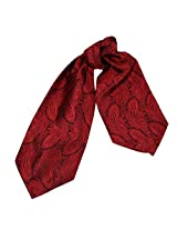 ERA1B03B Red Paisley Casual Boyfriend Cravat Woven Microfiber Ascot for Mens Thank You Gift By Epoint