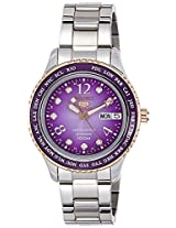 Seiko 5 Sports Analog Purple Dial Women's Watch - SRP376K1