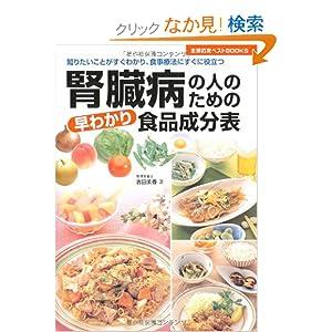 腎臓病のための早わかり食品成分表—知りたいことがすぐわかり、食事療法にすぐに役立つ (主婦の友ベストBOOKS)