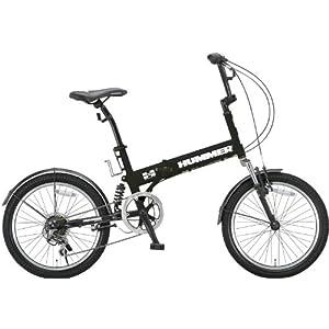 【クリックで詳細表示】Amazon.co.jp | HUMMER(ハマー) 20インチシマノ6段変速折りたたみ自転車 [Wサスペンション/前後フェンダー/Vブレーキ/ボトルゲージ/リフレクター標準装備] マットブラック HUMMER FDB206 W-sus | スポーツ&アウトドア 通販
