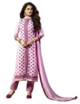 Bluewoman pink cotton dress material