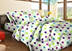 Bombay Dyeing Tuberose Polycotton Double Bedsheet with 2 Pillow Covers - Rust (05690002)