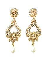 Foppish Mart Dazzling Golden Sunflower Danglers/ Earrings For Women