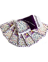 Colorful Flowers Nail Art 3D Stickers Decals, 7-pack