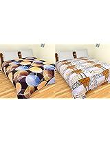Merwade Cotton 2 Double Bedsheets - Floral, Multicolour