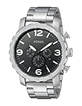 Fossil End-of-season Nate Chronograph Black Dial Men's Watch - JR1353