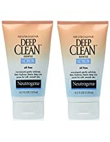 Neutrogena Oil-Free Deep Clean Gentle Scrub, 4.2 Ounce (Pack of 2)