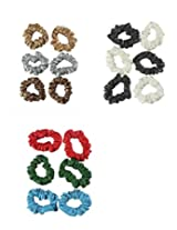 Accessher Multi Color Leather Hair Ties Combo Pack Of 18