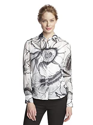 Craig Taylor Women's Tradewinds Sketched Floral Print (White/Black)