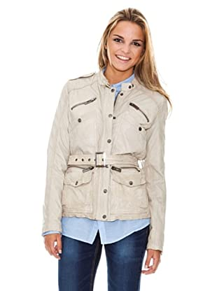 Maze Jacket With Stand Up Collar And Belt Mujer (Crudo)