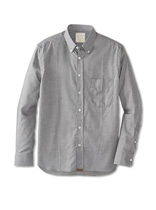 Billy Reid Men's Rosedale Woven Shirt (Navy/Charcoal)
