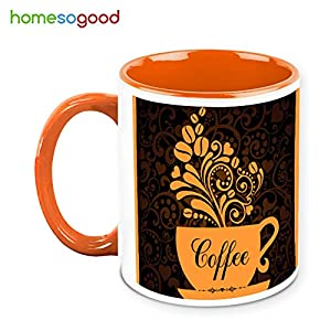 HomeSoGood Beautiful Coffee Tree In Coffee Mug Coffee Mug White 325 ml Ceramic