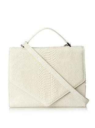 Emily Cho Women's Oversized Triangle Bag, Ivory