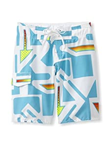 Azul Swimwear Boy's Arrows Boardshorts (Turquoise)