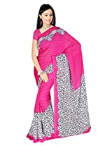 Fashion Trendz Faux Georgette Saree (FT309_Pink)
