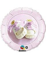 Pioneer Balloon Company Baby Girl Shoes Balloon, 18