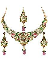 Ethnic Indian Bollywood Jewelry Set Traditional designer Necklace SetMINE0108RG