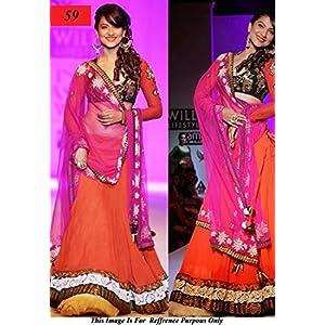 Bollywood Creation Gauhar Khan Designer Lehenga
