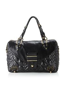 Rebecca Minkoff Women's Bleeker Embossed Leather Satchel, Black