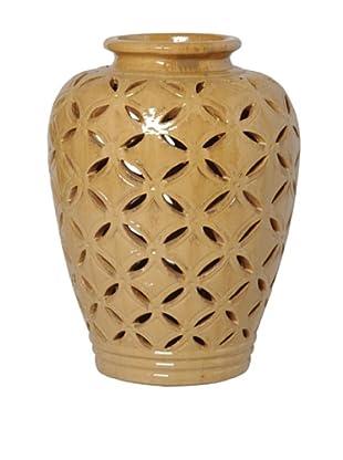 Emissary Ceramic Lattice Jar (Cappuccino)