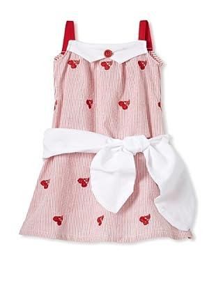 Upper School Girl's Sleeveless Dress with Tie (Cherry)