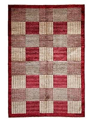 Darya Rugs Modern Oriental Rug, Red, 5' 8