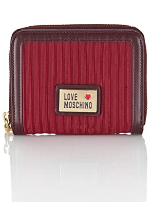 Love Moschino Geldbeutel Ottoman bordeaux