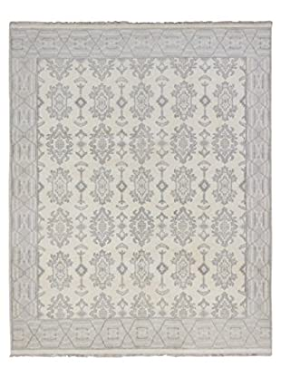 eCarpet Gallery One-of-a-Kind Hand-Knotted Royal Ushak Rug, Cream, 8' 1