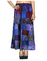 Rajrang Ethnic Design Patchwork Cotton Long Skirt Women's Wear
