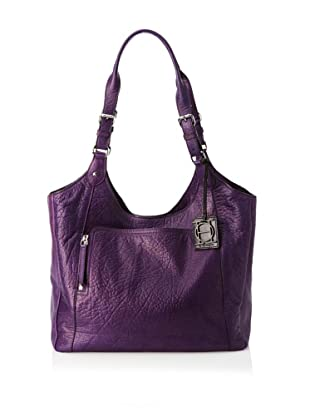 OH by Joy Gryson Unzipped Front Pocket Shopper (Grape)