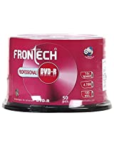 FRONtECH 4.7 GB Blank DVD-R - 50 Pcs (Sliver)
