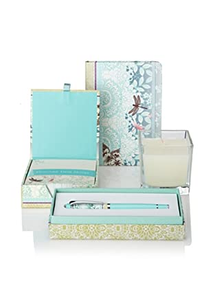 Peter Pauper Press Dragonfly Gift Set of Small Journal, Candle, Desk Notepad and Pen