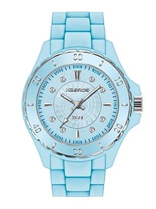 K&BROS 9551-5 / Reloj de Señora con correa de caucho azul claro
