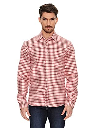James Harvest Camisa Manga Larga Austin (Rojo)