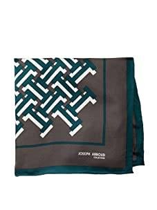 Joseph Abboud Men's Bricks Pocket Square, Black