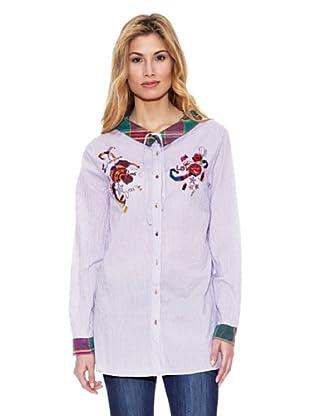 Peace & Love Camisa Rayas (Púrpura)